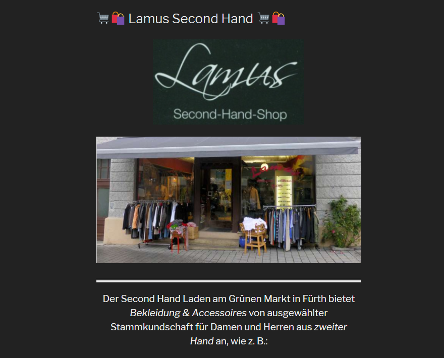 Details : Lamus Second Hand Shop
